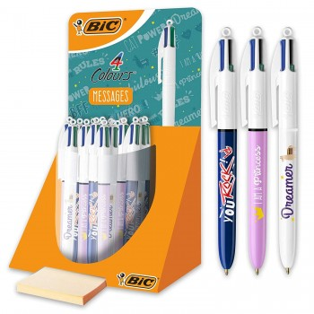 Stylo bille 4 couleurs BIC...