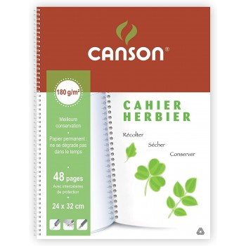 Cahier herbier 24x32cm Canson