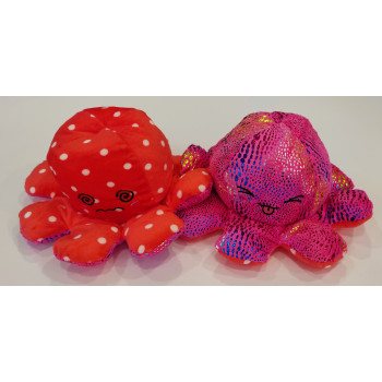 Peluche Poulpe Reversible